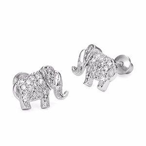 Kids 14k Gold Plated Elephant Girls earrings